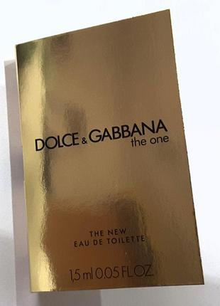 Пробник 1,5 мл туалетной воды dolce&gabbana the one eau de toilette, италия