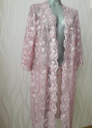 Невероятно красивый, нарядный, ажурный костюм розового цвета. с блестинкой.