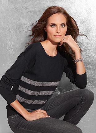 Гламурный свитерок с блестящими полосками, оверсайз - tchibo, германия - р. 48-50 укр.1