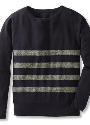 Гламурный свитерок с блестящими полосками, оверсайз - tchibo, германия - р. 48-50 укр.2