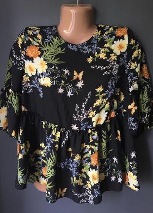Шикарная блуза с цветочным принтом