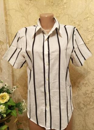 """Мальчиковая летняя рубашка """"зебра"""" l"""