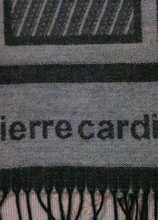 """Прекрасный подарок!новый интересный шарф """"pierre cardin"""" двухсторонний."""