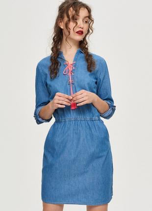 Джинсовое платье-рубашка1 фото