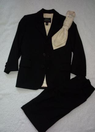 Костюм детский на мальчика тройка с галстуком р 4-5 лет
