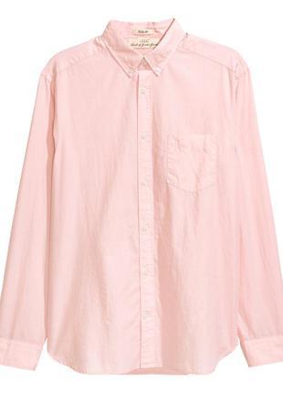 Новая хлопковая рубашка р. m фирмы h&m - полномерная