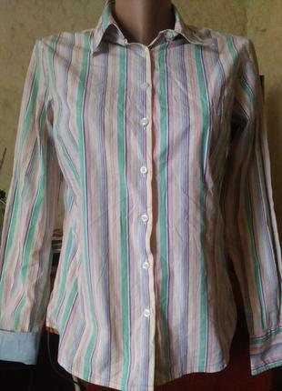 Классическая женская рубашка в полоску 8 tommy hilfiger.распродажа.