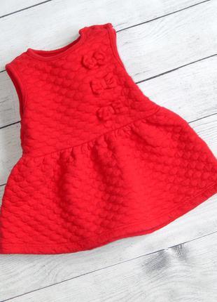 Красное платье nutmeg для малышки на 0-3 мес.