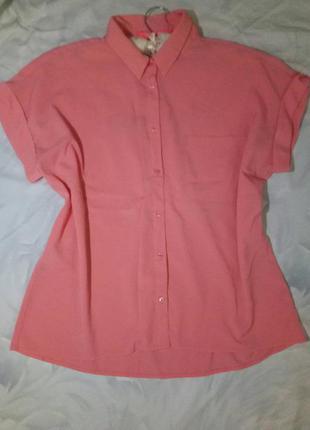 Кораловая рубашка mango