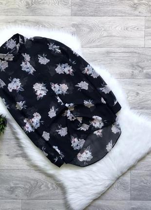 Шифоновая рубашка/блуза в цветы