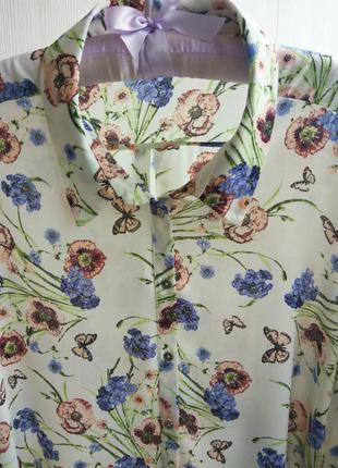 Шикарная блузка в цветочный принт