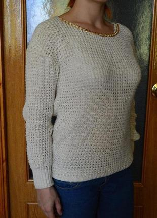 Женская вязанная кофта, свитер