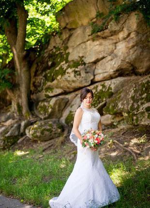 Свадебное платье размер 42-445 фото