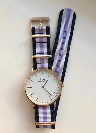 Наручные часы ( сине - сиренево - белый )