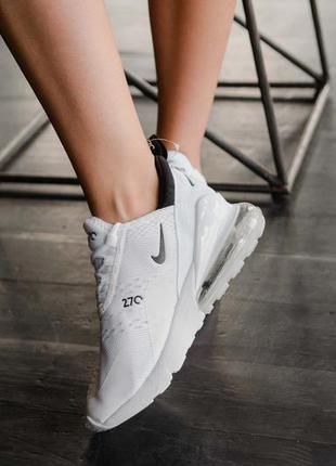 Nike air max 270 white летние белые женские кроссовки