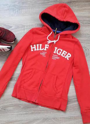 Красная толстовка спортивная кофта пайта от tommy hilfiger sport p.xs