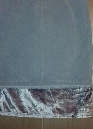 Вельветово-велюровая юбка от фирмы braez