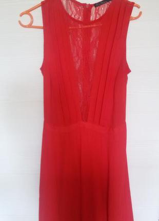 Платье вечернее выпускное в пол красное