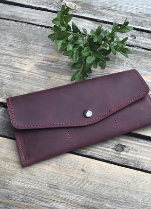 Кожаный кошелёк crazy horse ручной работы
