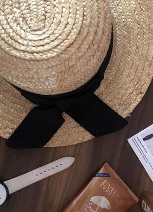 Модная соломенная шляпа канотье zara
