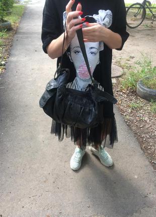 Крутяцкая кожаная сумка c&a