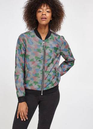 Cerise blye текстурированная многоцветная стильная куртка бомбер, р.l
