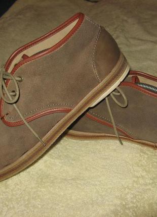 Мокасины туфли hudson замшевые 43 - 43.5 размер по стельке 28 см