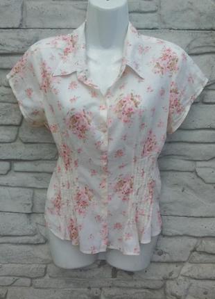 Распродажа!!! классная блузочка в цветочный принт