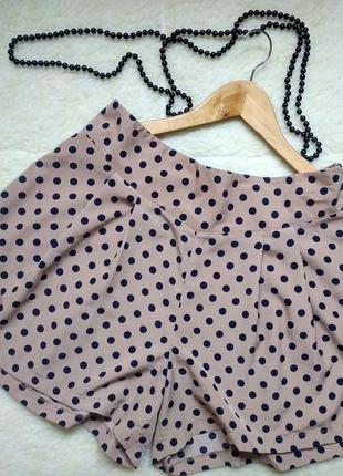 Классные шорты-юбка в горох