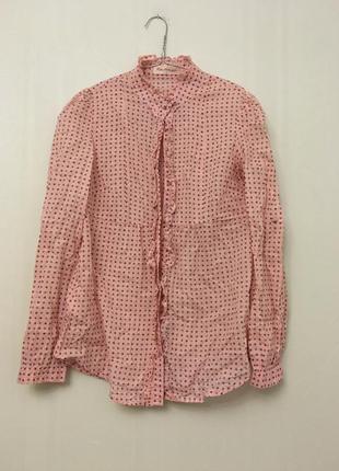 Хлопковая рубашка в горошек