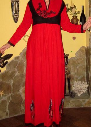 Платье в пол , раз m-l