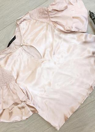 Атласная блузка zara