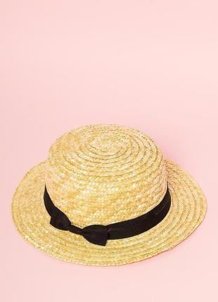 Новая женская трендовая летняя соломенная шляпа канотье с лентой с бантом кепка