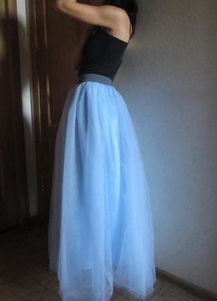 Божественно красивая юбка пачка фатиновая макси