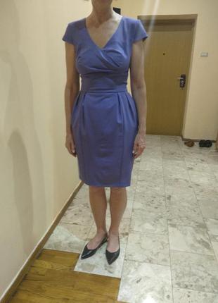 Деловое платье фиалкового цвета