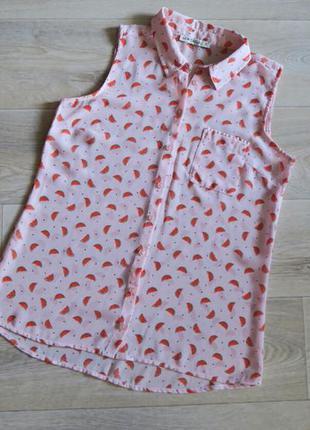 Блузка без рукавов арбузы lc waikiki