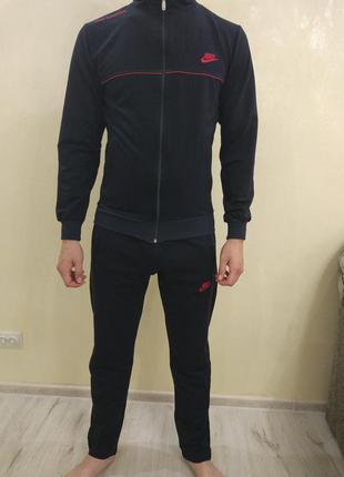 Чёрный спортивный костюм мужской турция nike 48 50 52 54 56 58 60 62 64 0b31b857982