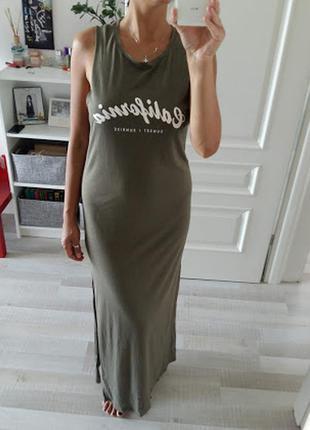 Макси платье gina tricot