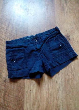 Темно-синие короткие шорты