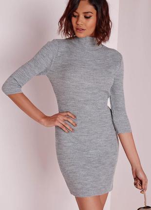 Шикарное платье в рубчик missguided. missguided