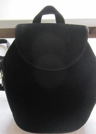 Рюкзак велюровый черный