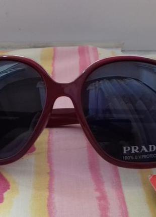 Фирменные новые женские очки прада затемненные prada