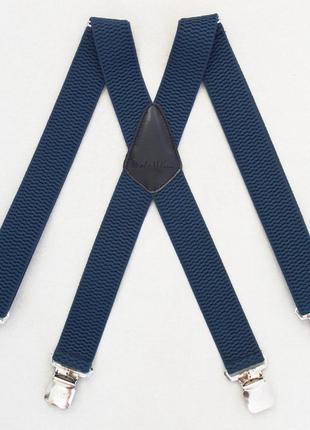 Широкие синие подтяжки paolo udini (арт. 357)