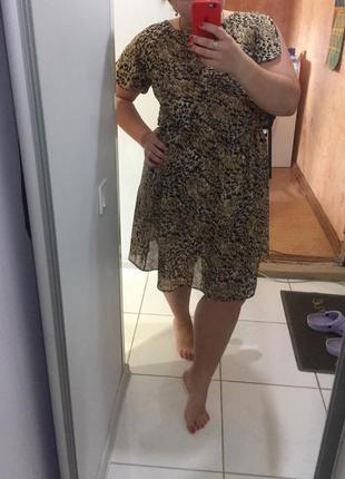 Легкое красивое платье 50-54 размер