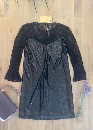 Элегантное черное платье от zara