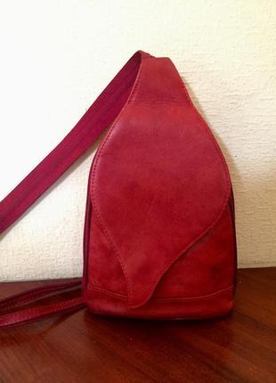 Кожаный рюкзак сумка vera pelle