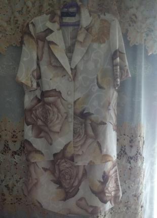 Костюм с розами , батал р 52-54