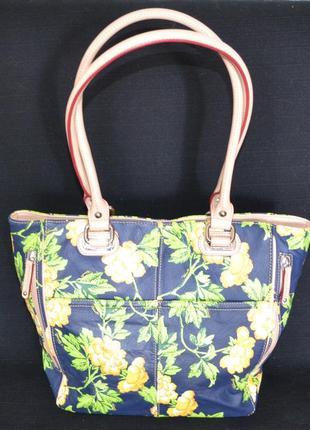 Красивая кожаная сумка tignanello, оригинал