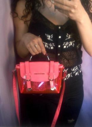 Хит сезона!!! стильная прозрачная сумочка на плече river island