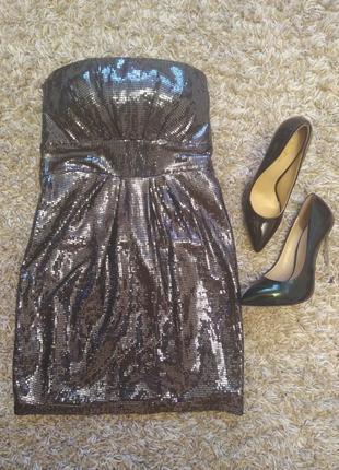 Супер платье jane norman,пайетки